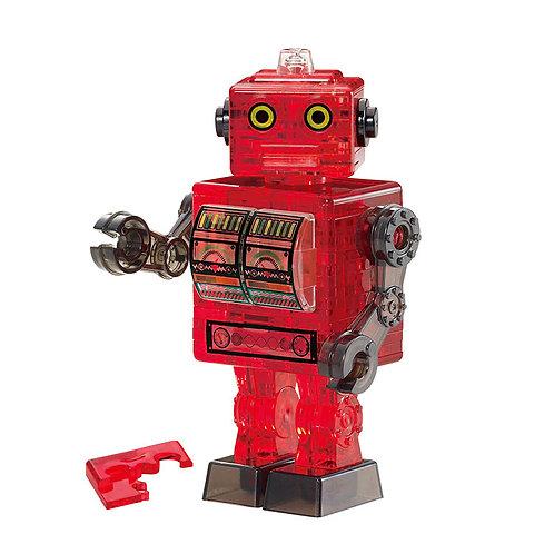 水晶立體 - 紅色鐵皮機械人 39塊