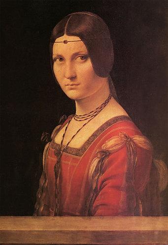 達文西 - 美麗的費隆妮葉夫人 300塊 (26×38cm)