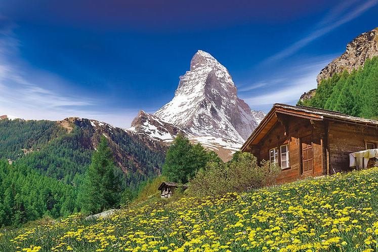 (迷你尺寸) 瑞士風景 - 阿爾卑斯馬特宏峰 2016塊 (50×75cm)