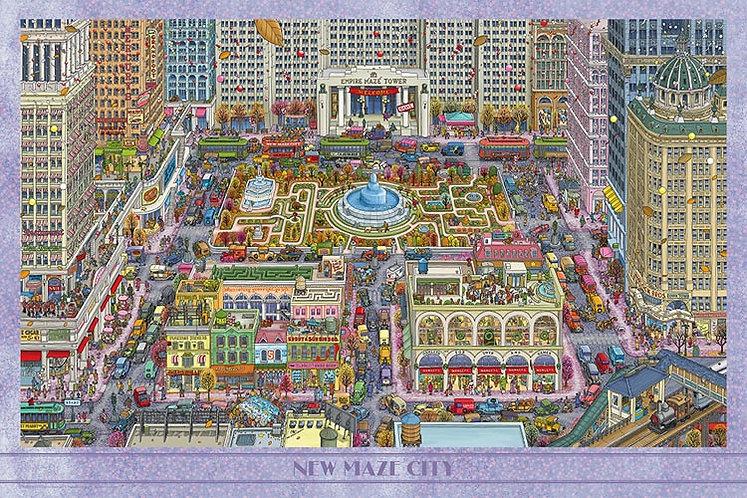 迷宮偵探 - 新迷宮城市 1000塊 (50×75cm)
