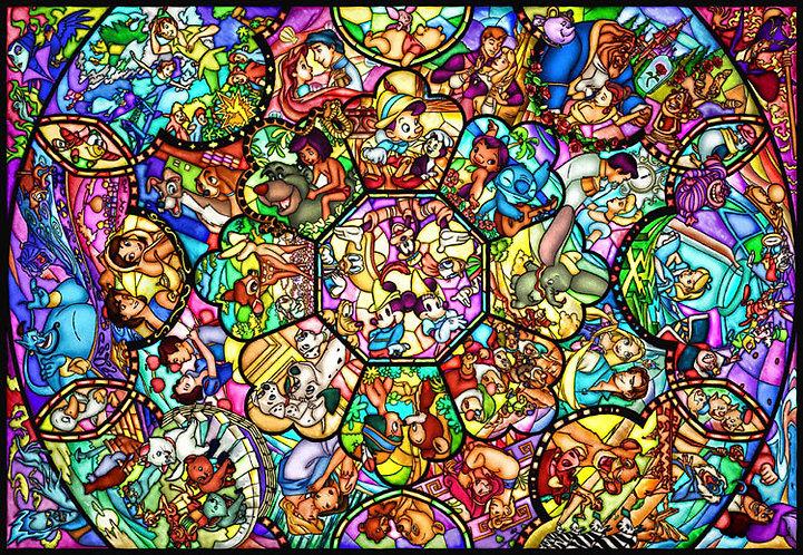 (透明樹脂) 迪士尼 - 迪士尼全角色彩繪藝術 1000塊 (51.2×73.7cm)