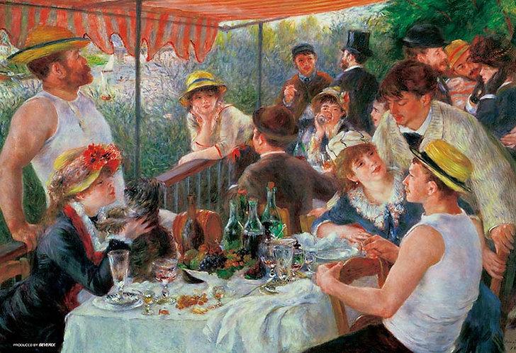 (帆布紋理) 雷諾瓦 - 船上的午宴 300塊 (26×38cm)