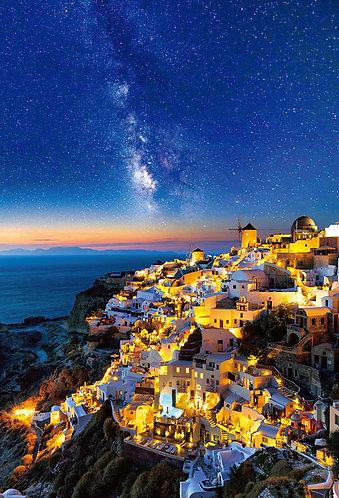 希臘風景 - 繁星點點的聖托里尼 1000塊 (49×72cm)