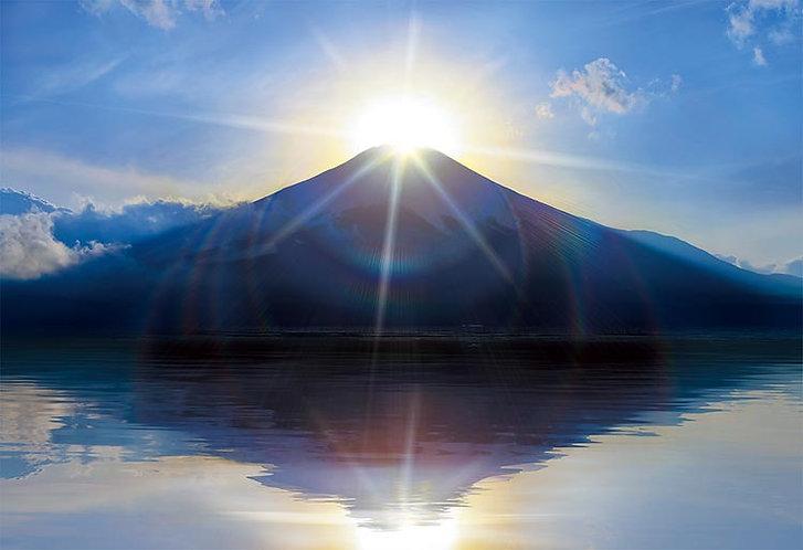 日本風景 - 富士山的日出 300塊 (26×38cm)