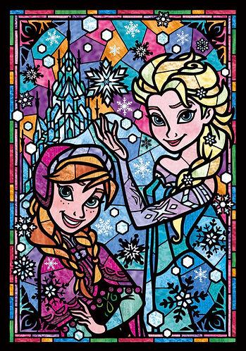 (透明樹脂) 魔雪奇緣 - 安娜、愛莎肖像彩繪 266塊 (18.2×25.7cm)