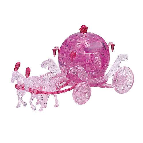 水晶立體 - 皇家粉紅玫瑰馬車 67塊