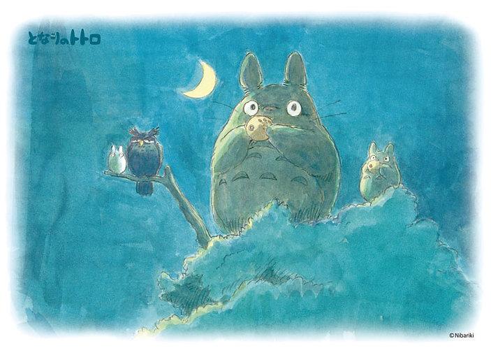 龍貓 - 新月之夜 108塊 (18.2×25.7cm)