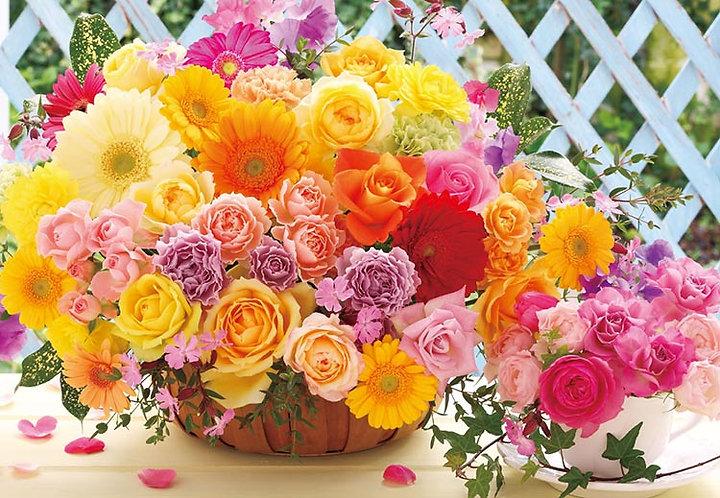 (迷你尺寸) 花藝 - 微笑快樂玫瑰 1000塊 (26×38cm)