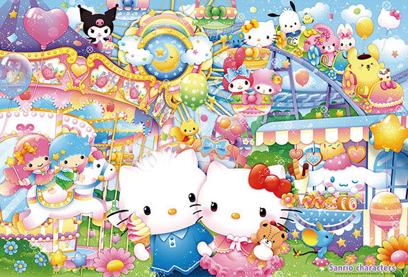 Sanrio - 夢想主題樂園 1000塊 (49×72cm)
