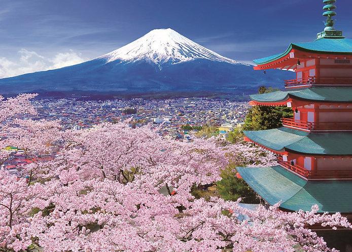日本風景 - 山梨五層塔 500塊 (38×53cm)