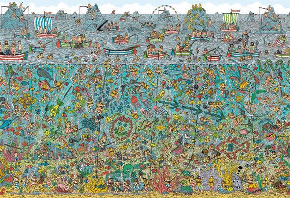 威利在哪裏? - 深海潛水員 150塊 (26×38cm)