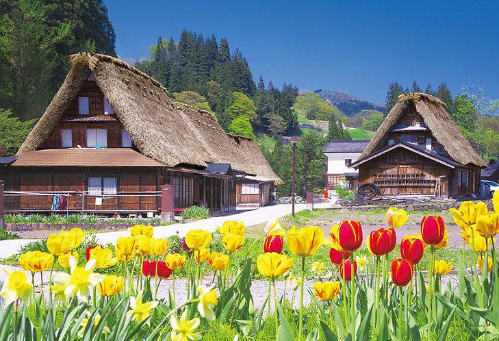 日本風景 - 鬱金香和屋 300塊 (26×38cm)