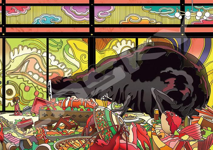(透明樹脂) 千與千尋 - 饗宴之後 208塊 (18.2×25.7cm)