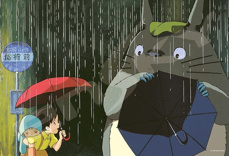 龍貓 - 拿一把傘 300塊 (26×38cm)