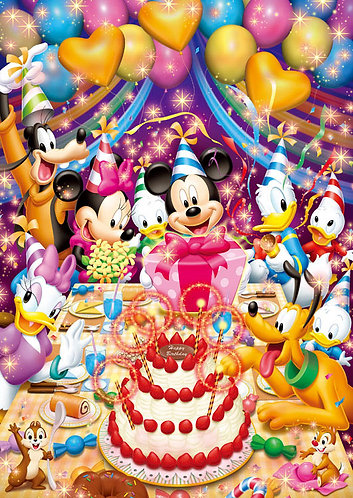 (鐳射閃面) 迪士尼 - 生日快樂 108塊 (18.2×25.7cm)