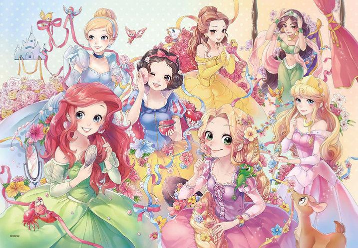 迪士尼 - 卡通化迪士尼公主 500塊 (35×49cm)