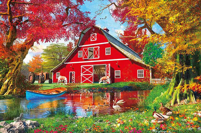 Dominic Davison - 紅屋河邊 300塊 (26×38cm)