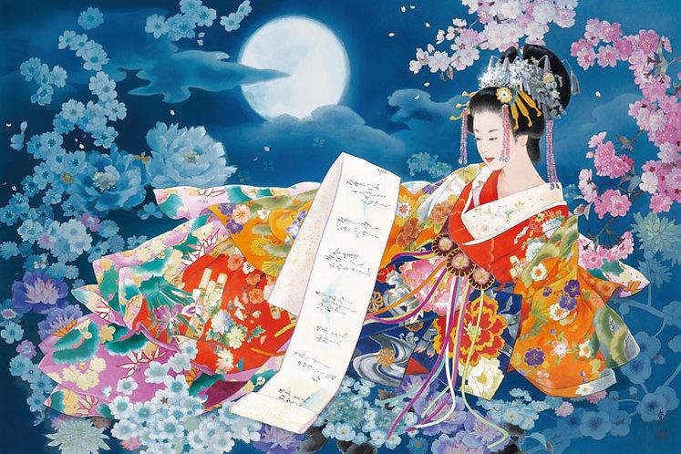 (夜光) 森田春代 - 夢月夜 1000塊 (50×75cm)