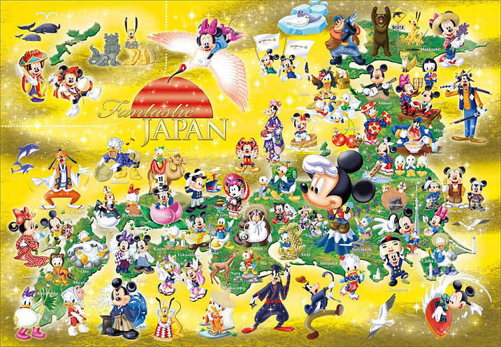 迪士尼 - 米奇日本地圖 500塊 (35×49cm)