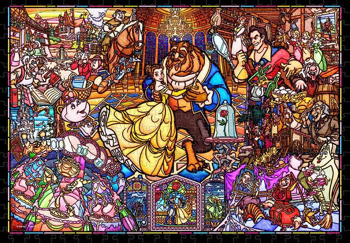(透明樹脂) 美女與野獸 - 故事彩繪藝術 500塊 (25×36cm)