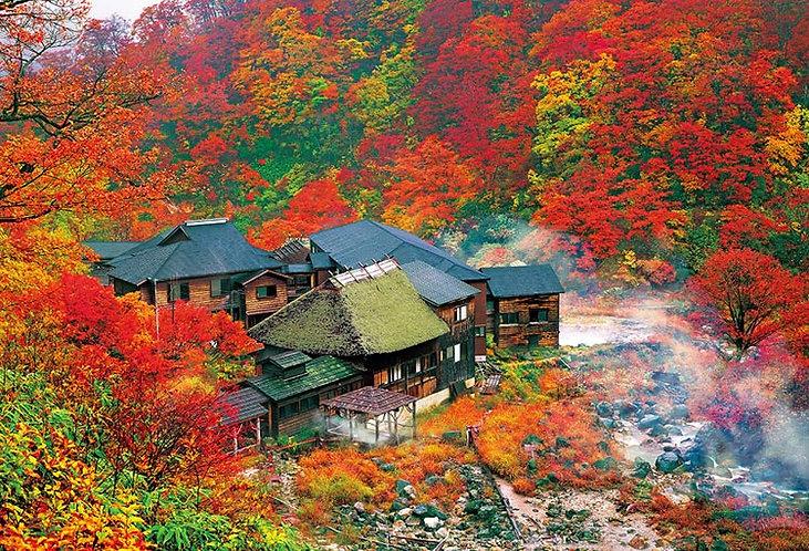 日本風景 - 秋色山中溫泉 1000塊 (49×72cm)