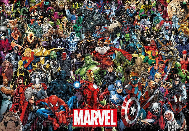(環保樹脂) Marvel - 漫畫角色大集合 1000塊 (51×73.5cm)