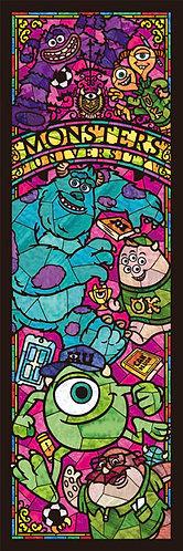 (透明樹脂) 怪獸大學 - 怪獸們彩繪藝術 456塊 (18.5×55.5cm)