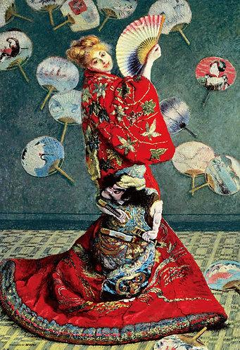 (迷你尺寸) 莫奈 - 日本女人 1000塊 (26×38cm)
