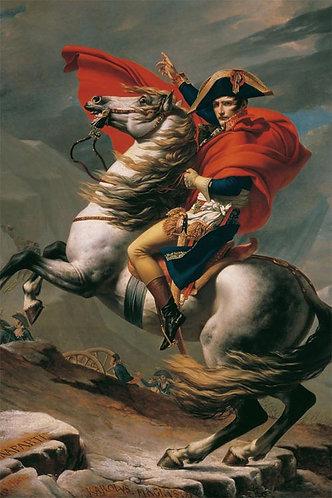 雅克-路易·大衛 - 跨越阿爾卑斯山聖伯納隘道的拿破崙 1000塊 (50×75cm)