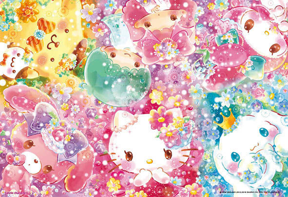 Sanrio - 被夢幻鮮花包圍 300塊 (26×38cm)