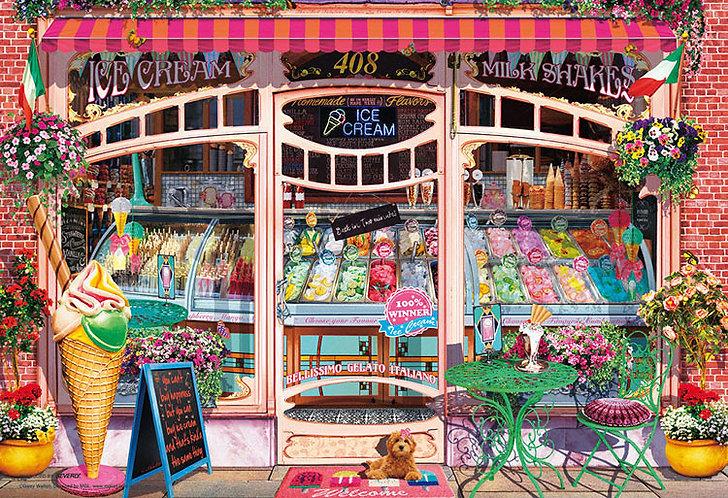 (迷你尺寸) Garry Walton - 冰淇淋店 1000塊 (26×38cm)