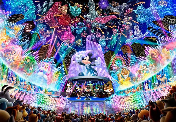 (鐳射閃面) 迪士尼 - 水舞會 1000塊 (51×73.5cm)