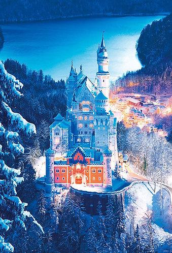 德國風景 - 覆蓋著雪的新天鵝堡 1000塊 (49×72cm)