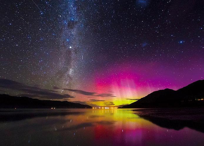 紐西蘭風景 - 南半球的紅色極光 500塊 (38×53cm)