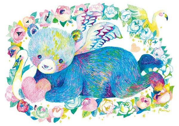 佐藤玲奈 - 快樂的小熊 300塊 (26×38cm)