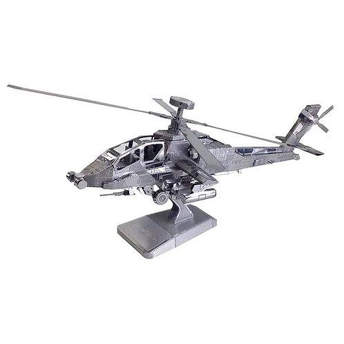 金屬立體 - 阿帕奇直升機