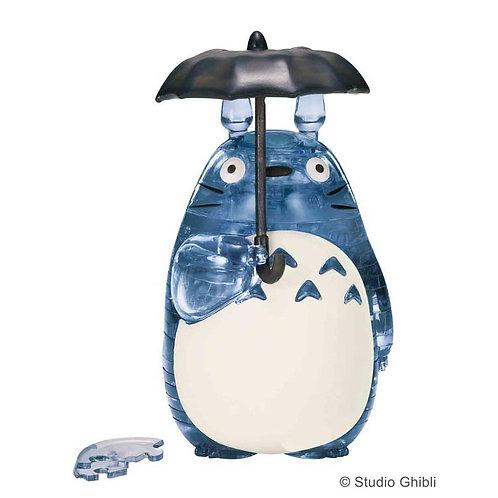水晶立體 - 撐傘龍貓(灰藍) 42塊
