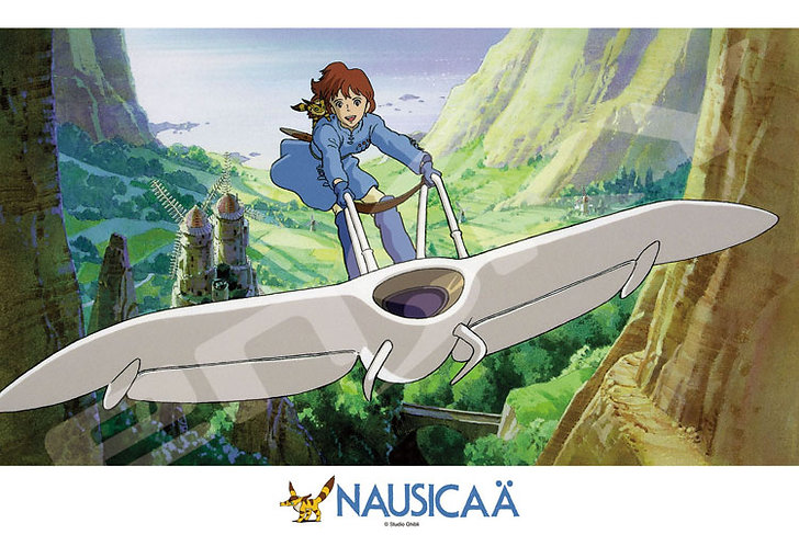 風之谷 - 乘坐滑翔翼 300塊 (26×38cm)