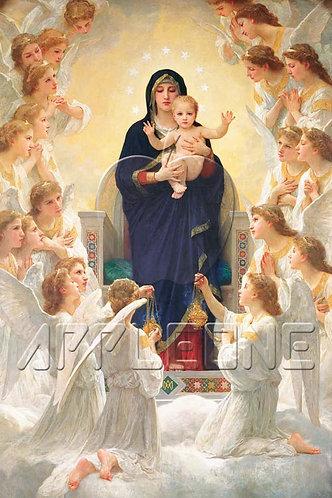 布格羅 - 聖母與天使 1000塊 (50×75cm)