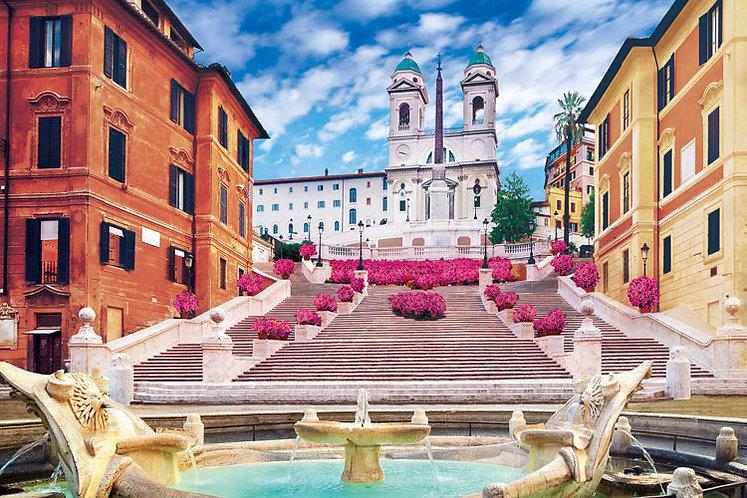 意大利風景 - 西班牙廣場 1000塊 (50×75cm)