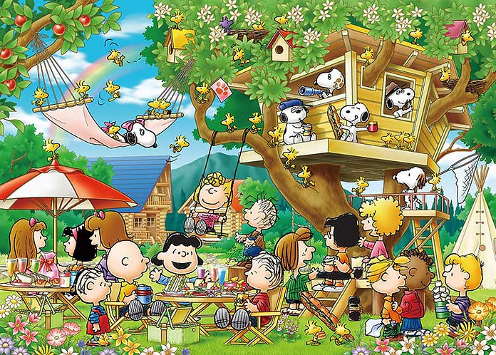 史努比 - 樹屋 3000塊 (73×102cm)