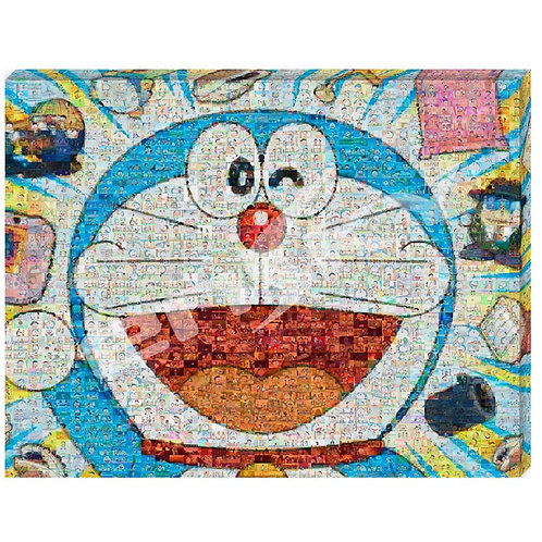 (馬賽克) 畫布框立體 - 多啦A夢 多啦A夢大頭肖像 366塊