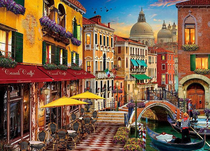 (帆布紋理) (迷你尺寸) David McLean - 威尼斯咖啡廳 2000塊 (38×53cm)