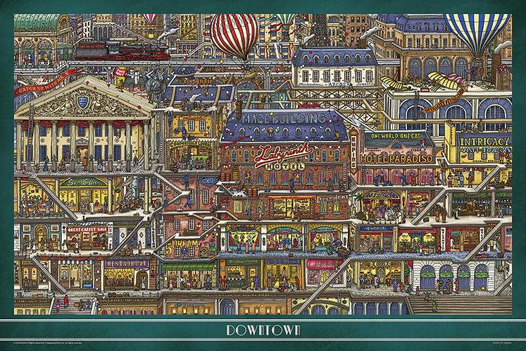 迷宮偵探 - 高層建築 1000塊 (50×75cm)