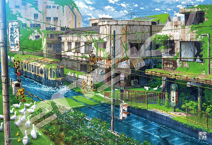 東京幻想 - 都營荒川線幻想 300塊 (26×38cm)