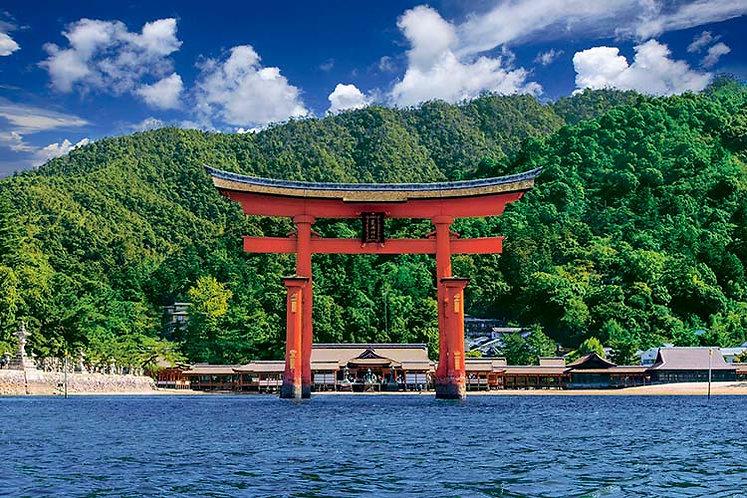 日本風景 - 嚴島神社 1000塊 (50×75cm)