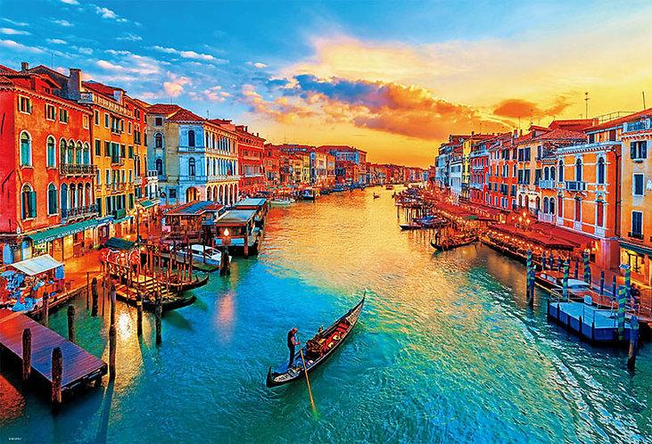 意大利風景 - 夕陽染色威尼斯 1000塊 (49×72cm)