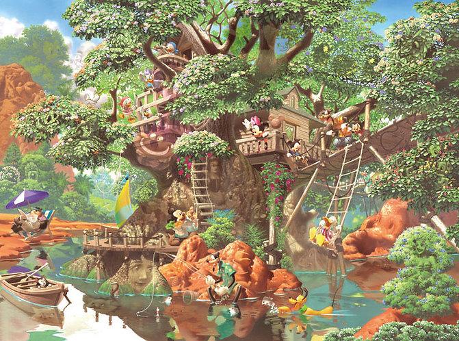 迪士尼 - 米奇的樹屋 1000塊 (51×73.5cm)