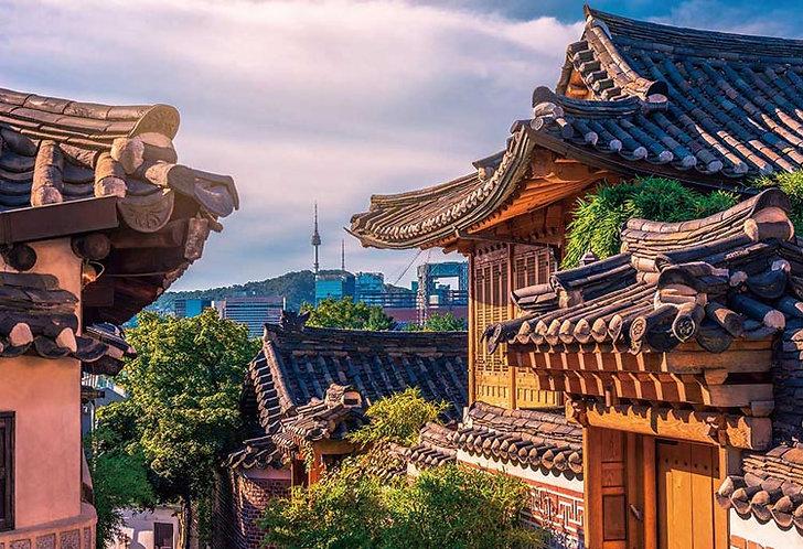 南韓風景 - 北村韓屋村 300塊 (26×38cm)