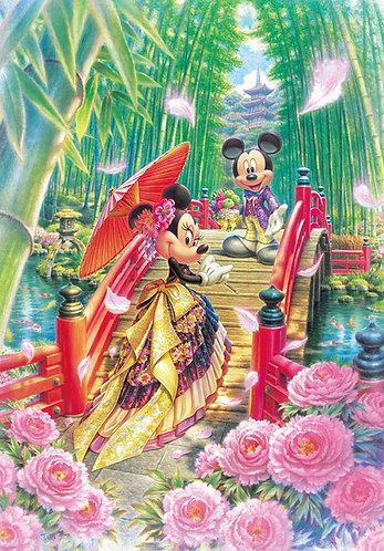 迪士尼 - 日式和服米奇與米妮 1000塊 (51×73.5cm)